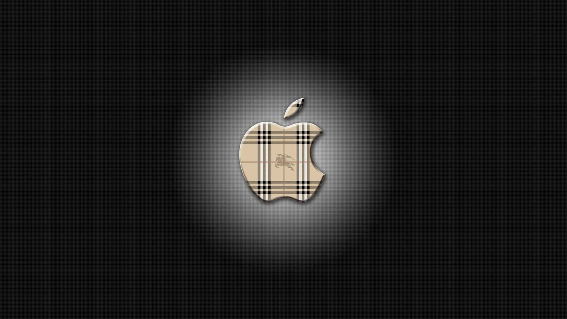 Apple Logo Wallpaer Burberry