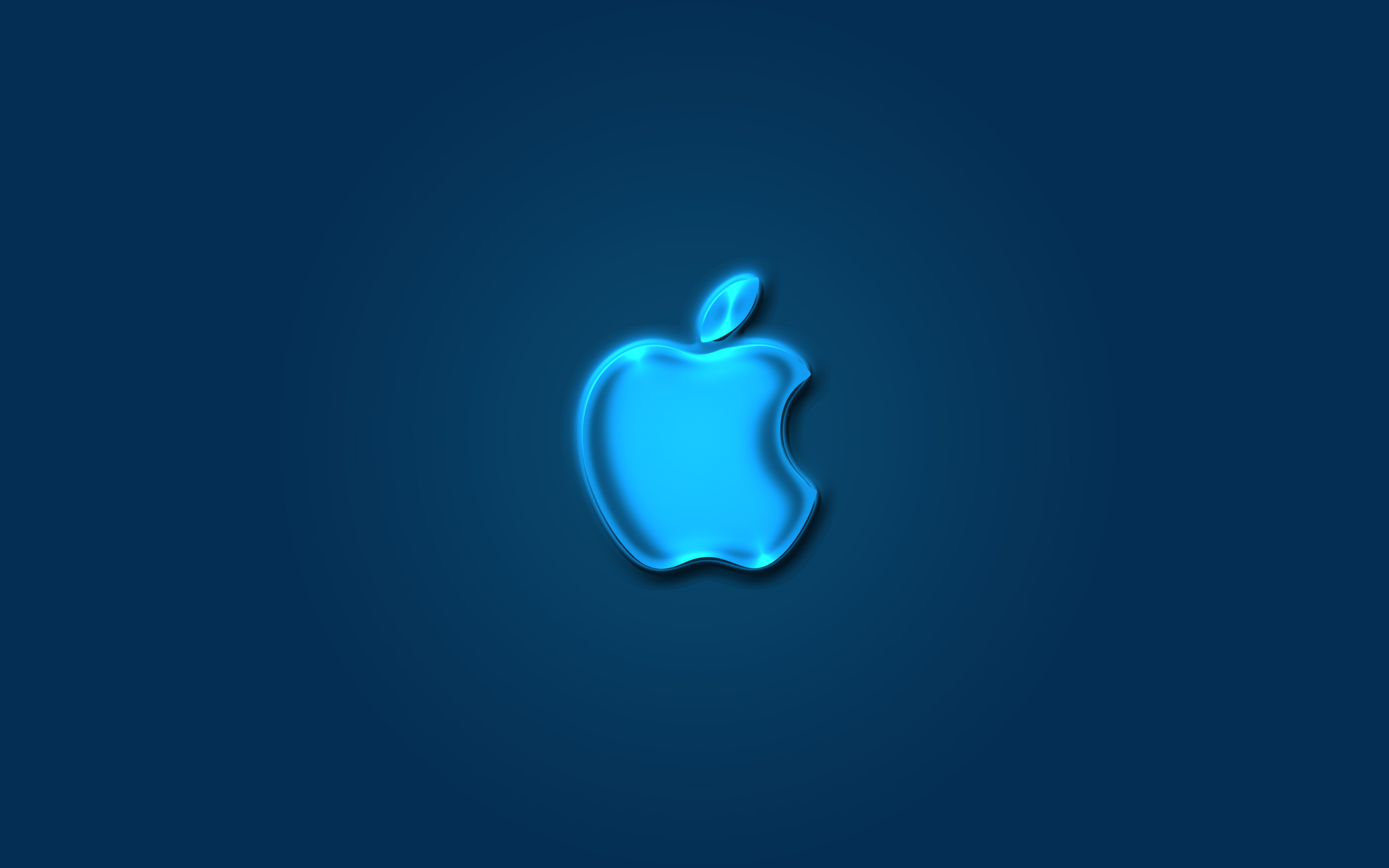 iPhone iPad MacBook Air MacBook Pro iMac Apple Logo Wallpaper 壁紙 Glow Blue (青色)
