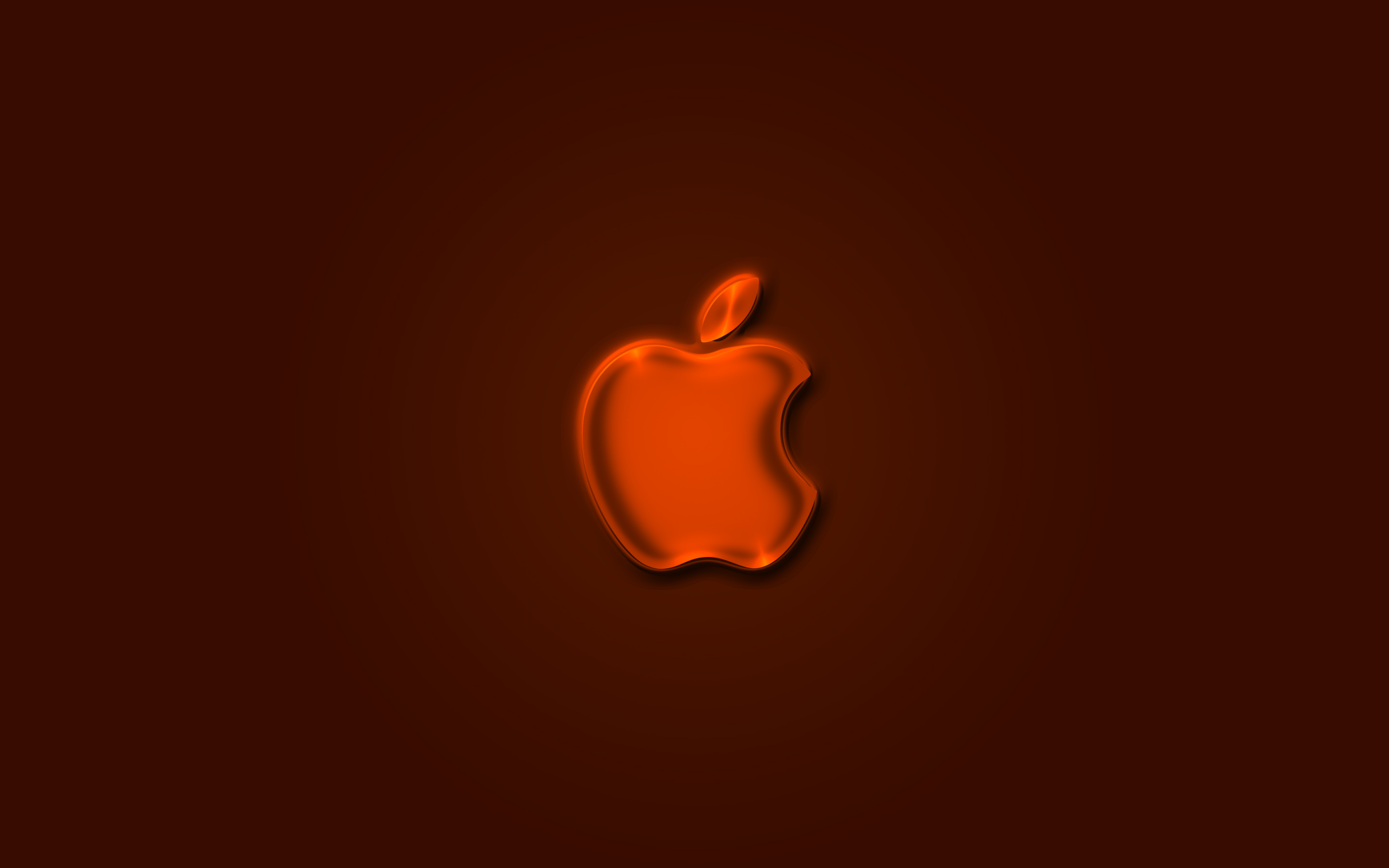 iPhone iPad MacBook Air MacBook Pro iMac Apple Logo Wallpaper 壁紙 Glow Orange (オレンジ色)