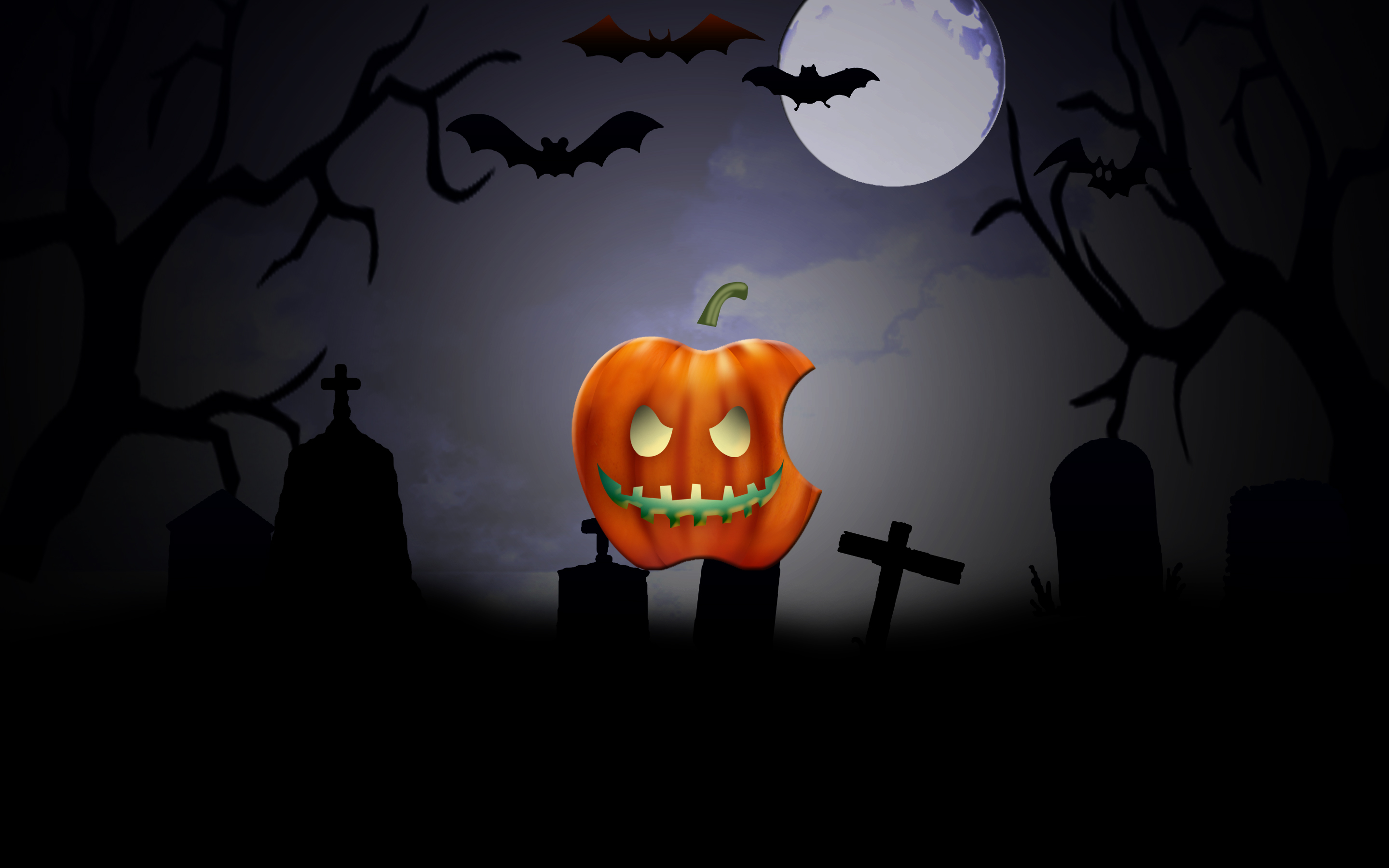 iPhone iPad MacBook Air MacBook Pro iMac Apple Logo Wallpaper ハロウィン
