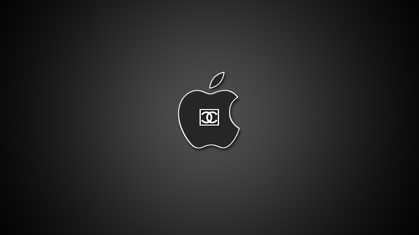 iPhone iPad MacBook Air MacBook Pro iMac Apple Logo Wallpaper Chanel #2 (シャネル)