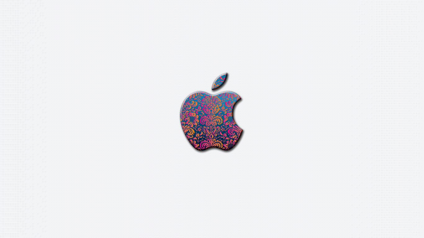 iPhone iPad MacBook Air MacBook Pro iMac Apple Logo Wallpaper Flower Pattern (フラワーパターン)