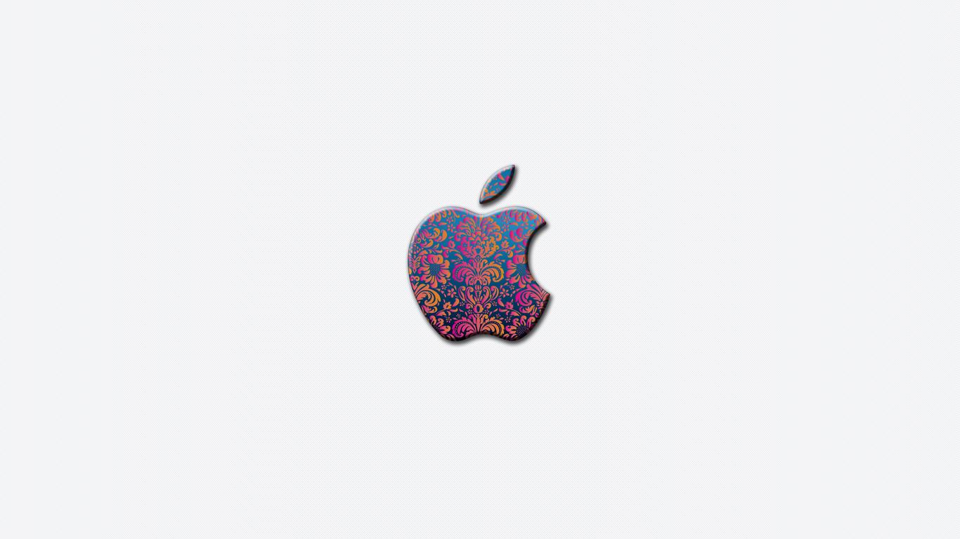 1366x768 apple logo flower - photo #13