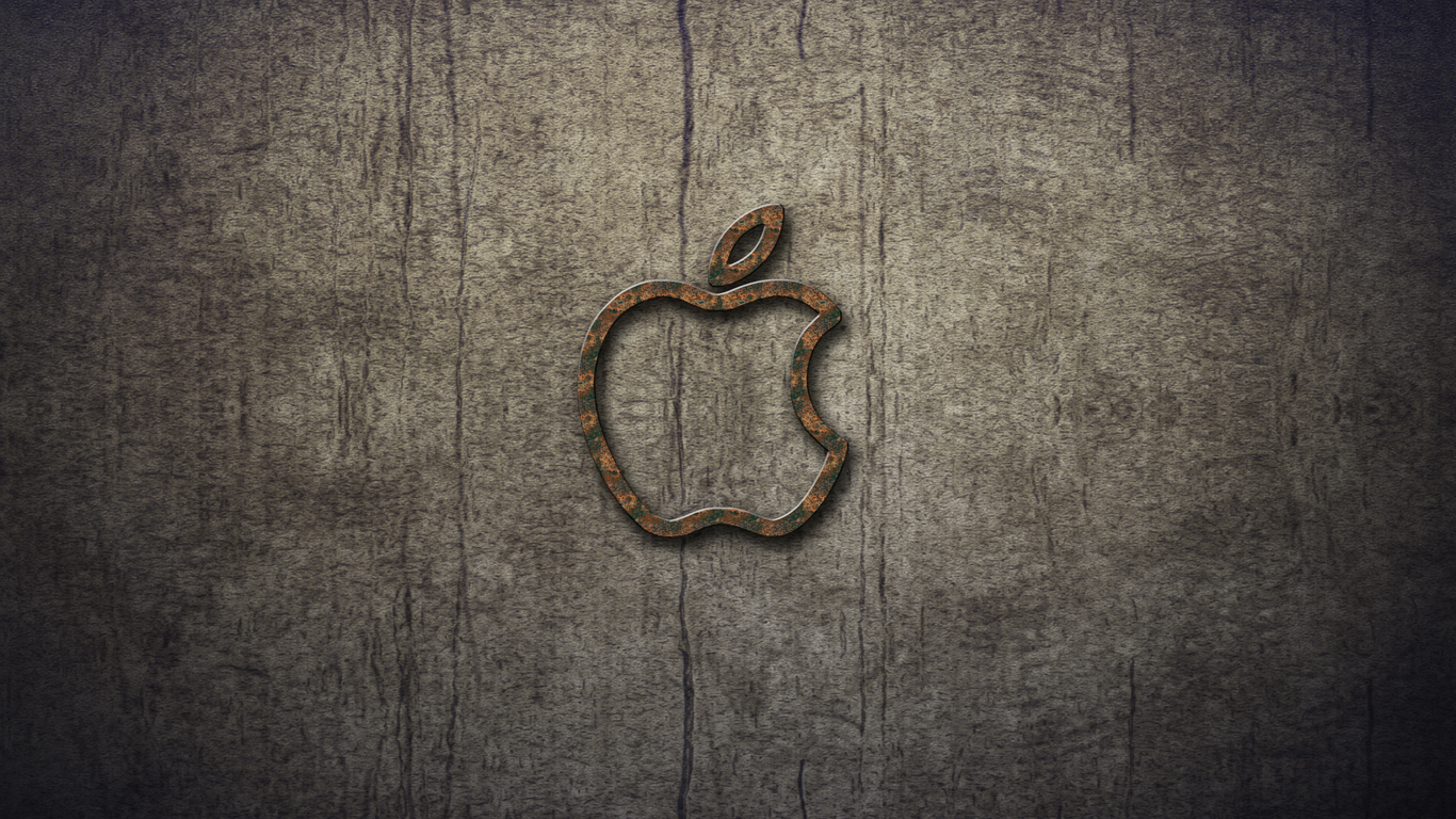 iPhone iPad MacBook Air MacBook Pro iMac Apple Logo Wallpaper Grunge2 (グランジ)