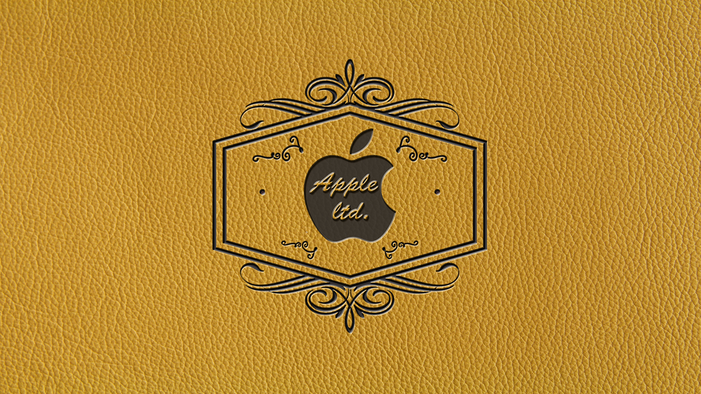 iPhone iPad MacBook Air MacBook Pro iMac Apple Logo Wallpaper レザーエンボス (Leather Embossing)