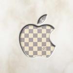 Apple Logo Wallpaper – Louis Vuitton Damier