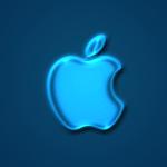 Apple Logo Wallpaper _ Glow Blue (青色)