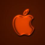 Apple Logo Wallpaper _ Glow Orange (オレンジ色)